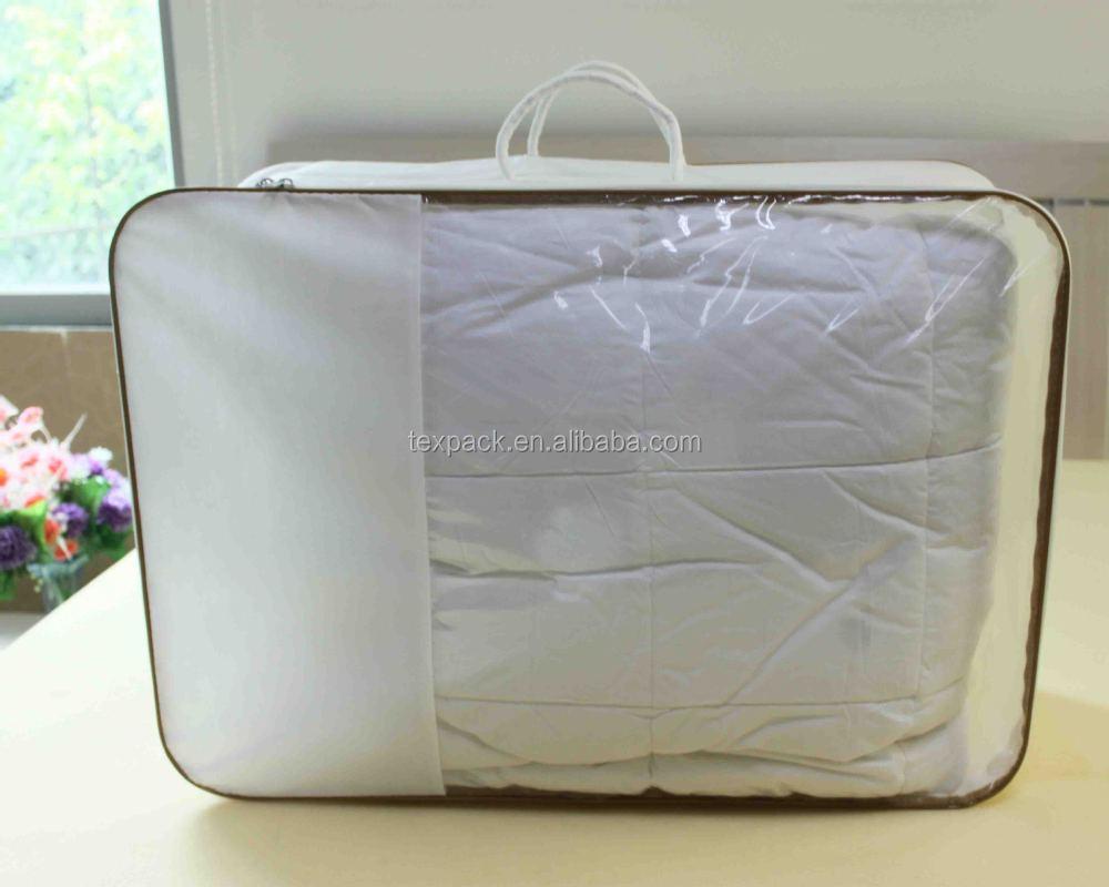 Vinyl Pvc Duvet Bedding Packaging Bag With 2pcs Rope