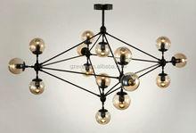 Jason Miller Modo Chandelier Cognac color glass Home Decorative Ceiling Lighting Pendant Chandelier