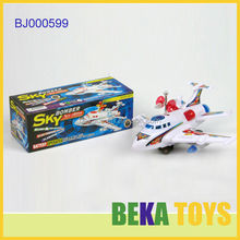 New kids toy small plastic spinning toy airplane with sound