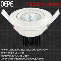 Led recessed downlight TOYONIA chip led spot light for commercial lighting 35w led cob recessed downlight