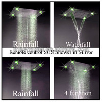 Top ceiling led rain overhead shower