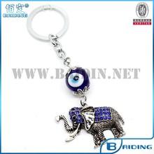 custom cute elephant animal keychain with evil eye as souvenir gift