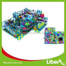 Ocean theme children indoor soft play areas playground equipment,play system structure for kids games,