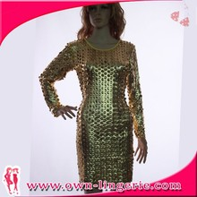 Alibaba online shopping women factory suppply bandage dress