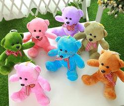 Plush Toys Polyester Stuffing Seven Colors Bear Car or House Pendant