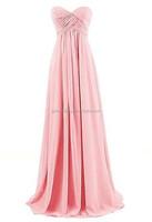 Free Shipping Alibaba Wholesale Bridesmaid Wedding Dress Cap Sleeve Sheer Back Lace Top Maxi Long Chiffon Prom Dresses C48-5