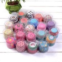 100pcs/set Christmas Wedding Beautiful Design Greaseproof Paper Cupcake Cases