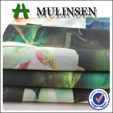Mulinsen Textile 75D Digital Printed Knit Polyester Scuba dresses fabric for women
