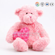 High Quality Glow Plush T Bear With Heart For Love
