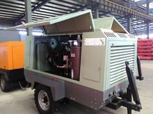 High power engine diesel mining drilling machine 2 cylinder hot air compressor