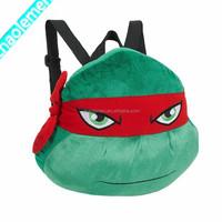 2015 New Design Green Devil Plush Bag For Kids Cheap