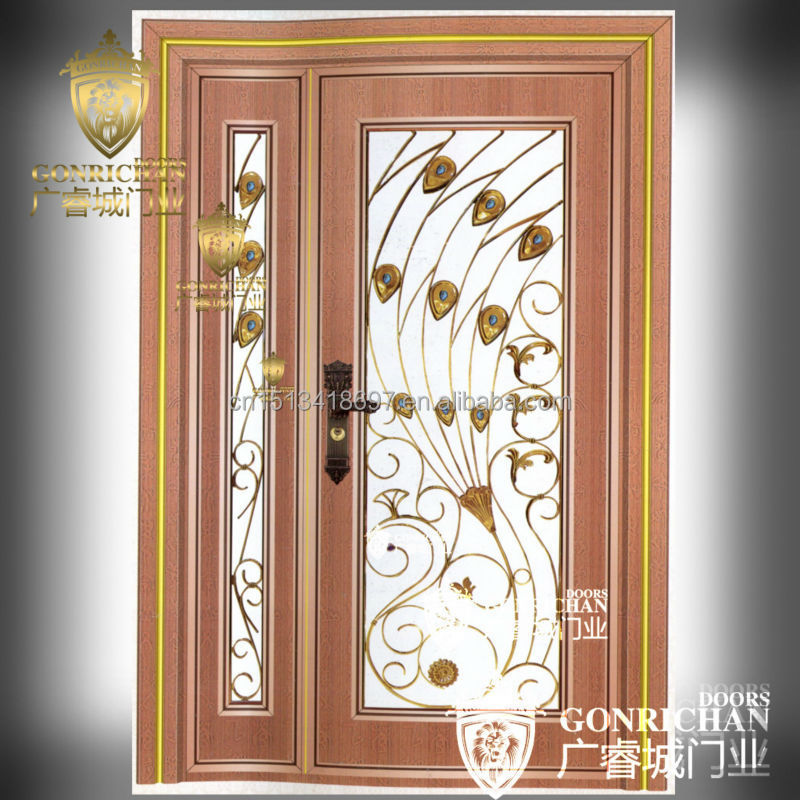 Security door front double door designs exterior glass for Storm doors for double entry doors