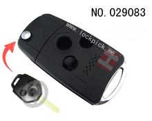 Haute qualité Auto clé shell pour 3 bouton pliant à distance boîtier clé, Gros, 029083