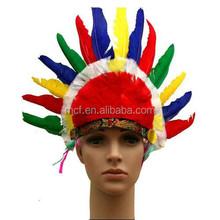 wholesale cheap indian feather headdress FW-0085