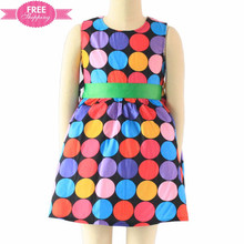 ShiJ Free shipping colorful polka dots summer school uniform pinafore girl dress baby dress pictures