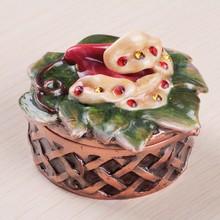 Jewelry Box Storage Organizer Case Ring Earring Necklace Metal trinket box HQJB123306