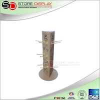 Body Care cream rotatable Hook display In Chain Store High quality Brochure Holder