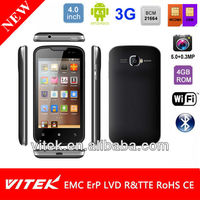 Hot cheap 4inch android 3G city call mobile phone