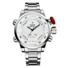 2015 WEIDE WH2309 Aliexpress reloj Led reloj del deporte posterior del acero inoxidable, analógico relojes para hombre