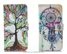 Drawing Flip Leather Wallet Stand Case Cover Skin For Apple iPhone 6 With Unique Design