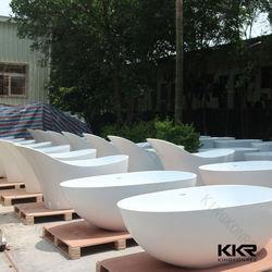 Made in China matte finish composite stone bathtub