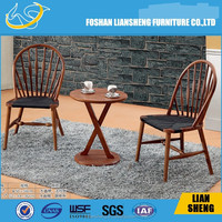 Beautiful cross back wood chair back fixed cushion wood chair /banquet chivary chair 2015 hot sale model:A013
