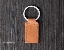 Simple style leather key chain,best selling small leather goods,genuine leather key ring with customized logo