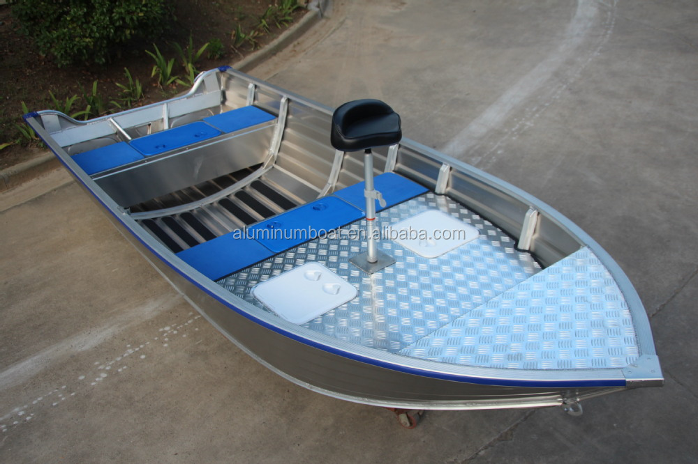 Aluminum boat with fishing platform 450 adventure sc for Fishing platform boat