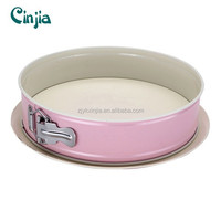 Pink Springform Pan with Ceramic coating Baking Pan