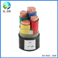 0.6/1KV xlpe insualted and pvc sheathed 240mm2 power cable