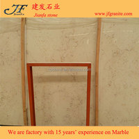 Natural Shell Beige Travertine Marble Stone For Bathroom Accessories
