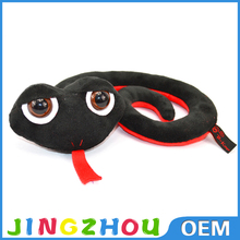 super soft velboa material plastic eyes vivid animal shape 2015 china best made hot selling customized soft toy plush snake