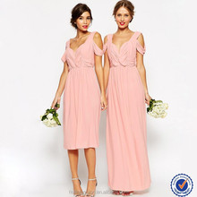 Fashion wholesale chiffon maxi dresses girls party dresses free prom gowns