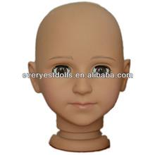 Linda boneca cabeça para artesanato, Para 18 polegada boneca, Cabeça da boneca moldes molde boneca