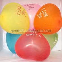 Heart shape latex balloon/Printed latex party balloon/ Wedding decoration heart balloon