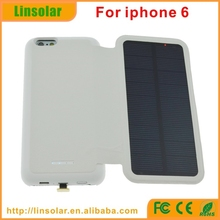 Good Quality Flip Cover Solar Smart Cell Phone Charger for apple iphone 6