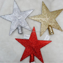 Christmas tree ornaments in the treetops Pentagram top decoration Christmas supplies