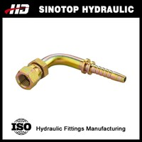 hydraulic swivel angle quick coupling hose connector