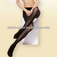 Plain black sexy snagging resistance business woman office pantyhose / tights