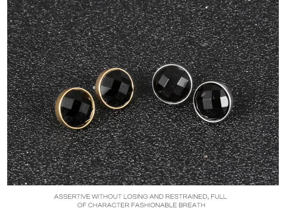 2019 Hot New Products Men Single Stone Gold Stud Earrings