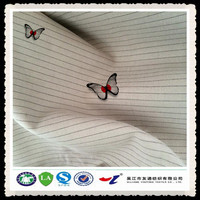 57/58 make-to-order style woven strip rayon polyester blend plain fabric