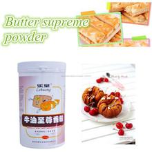 Lehuang mantequilla de calidad en polvo sabor para hacer pan, galletas, galletas, cakes bakery