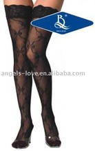 Top With Lace Bow Black Sexy Nylon Stockings