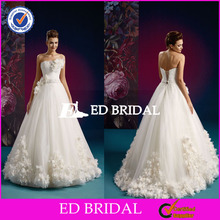 XLW002 Factory Custom Made Floral Ball Gown Alibaba Wedding Dresses China