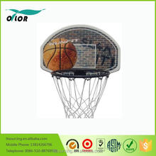 Wholesale good price best quality basketball backboard on the wall with 42cm black rim