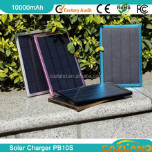 2015 PB10S 10000mAh Hot!!! 7W Portable solar charger / folding solar panel for laptop and