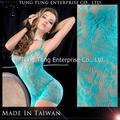 fabricante de taiwan transparente sexy vestido de mulher