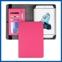 C&T Fashion pink pu leather card holder magnetic flip cover case stand for ipad mini