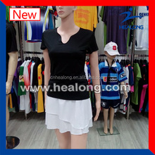 slim fit tennis wear custom tennis wear tennis t shirt with skirt