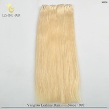 Qingdao Factory Wholesale 100% Cuticles double drawn russian hair extensions aaaa remy #613 blond